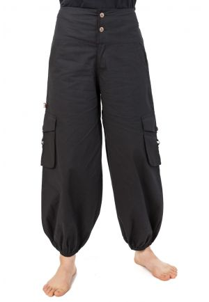 Genie puffy pants adventurer plain black Suwal