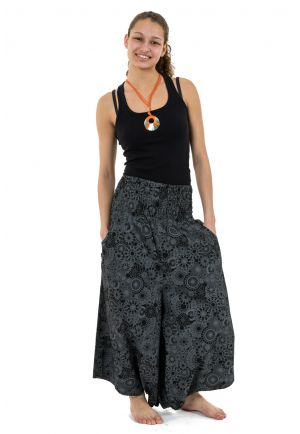 Short woman harem pants skirt elastic belt effect Kaleidoscope