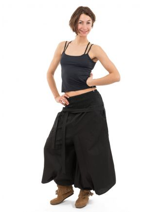 Harem pants female black skirt style Suci