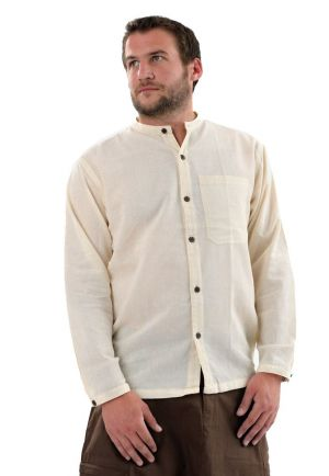 Shirt Nepalese cotton coconut wood button