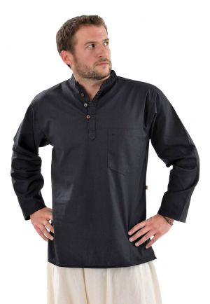 Shirt 3 button mao thick cotton
