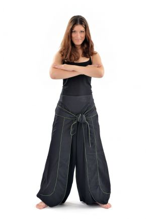 Zen pants hidding treasure black and khaki
