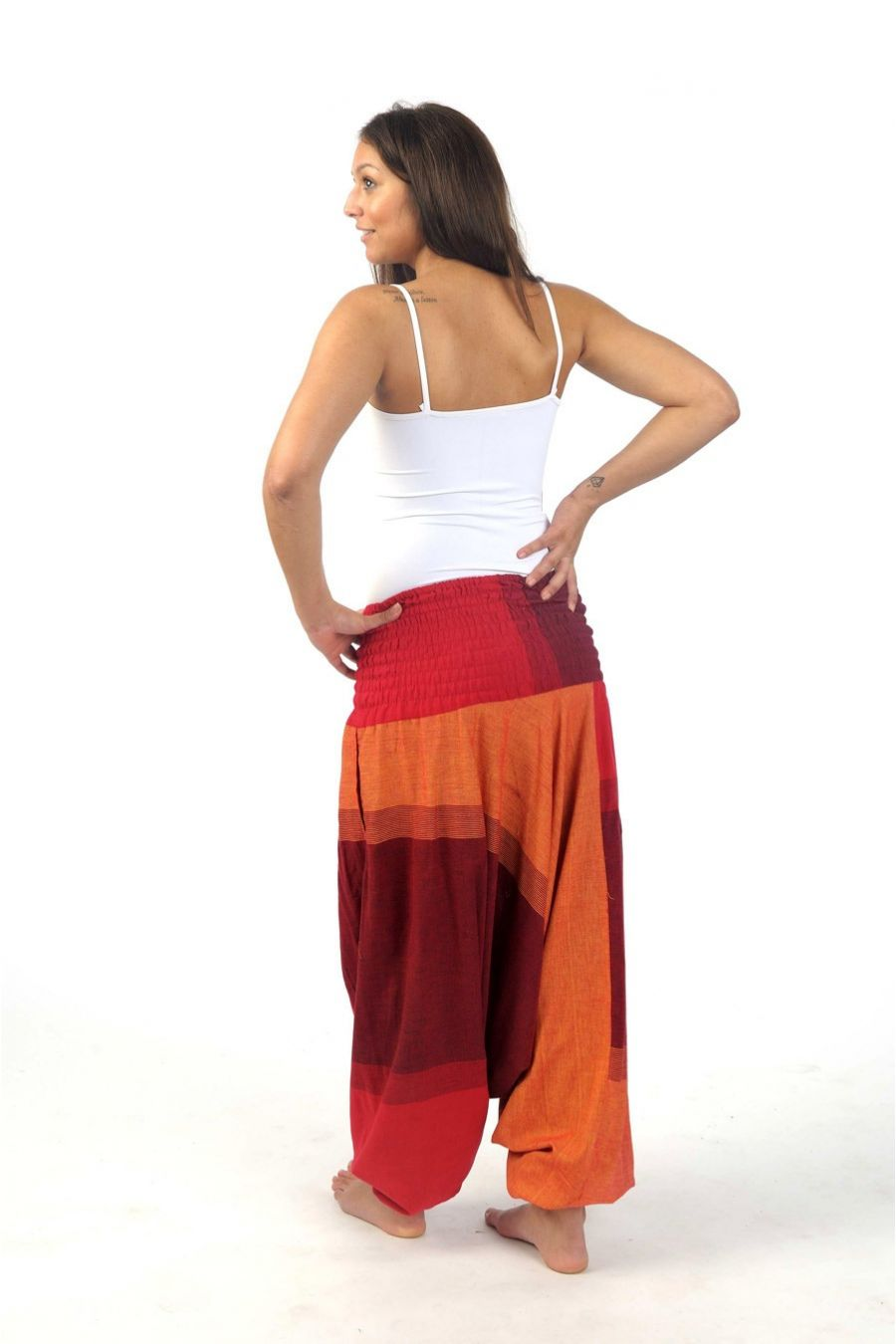 The same classic Bohemian Island harem pants but in Larger size! With a bigger waistband and longer measurements around the hips and thighs, these beautifully comfortable cotton plus size harem pants are going to be ideal for approx. US women's size and mens We currently have 54 designs available in this size.