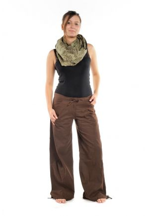 Hybrid Pants plain brown