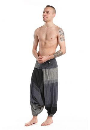 Basic Harem Pants elasticized black grey