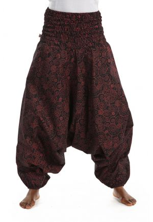 Harem Pants woman shhired spiral boho chic