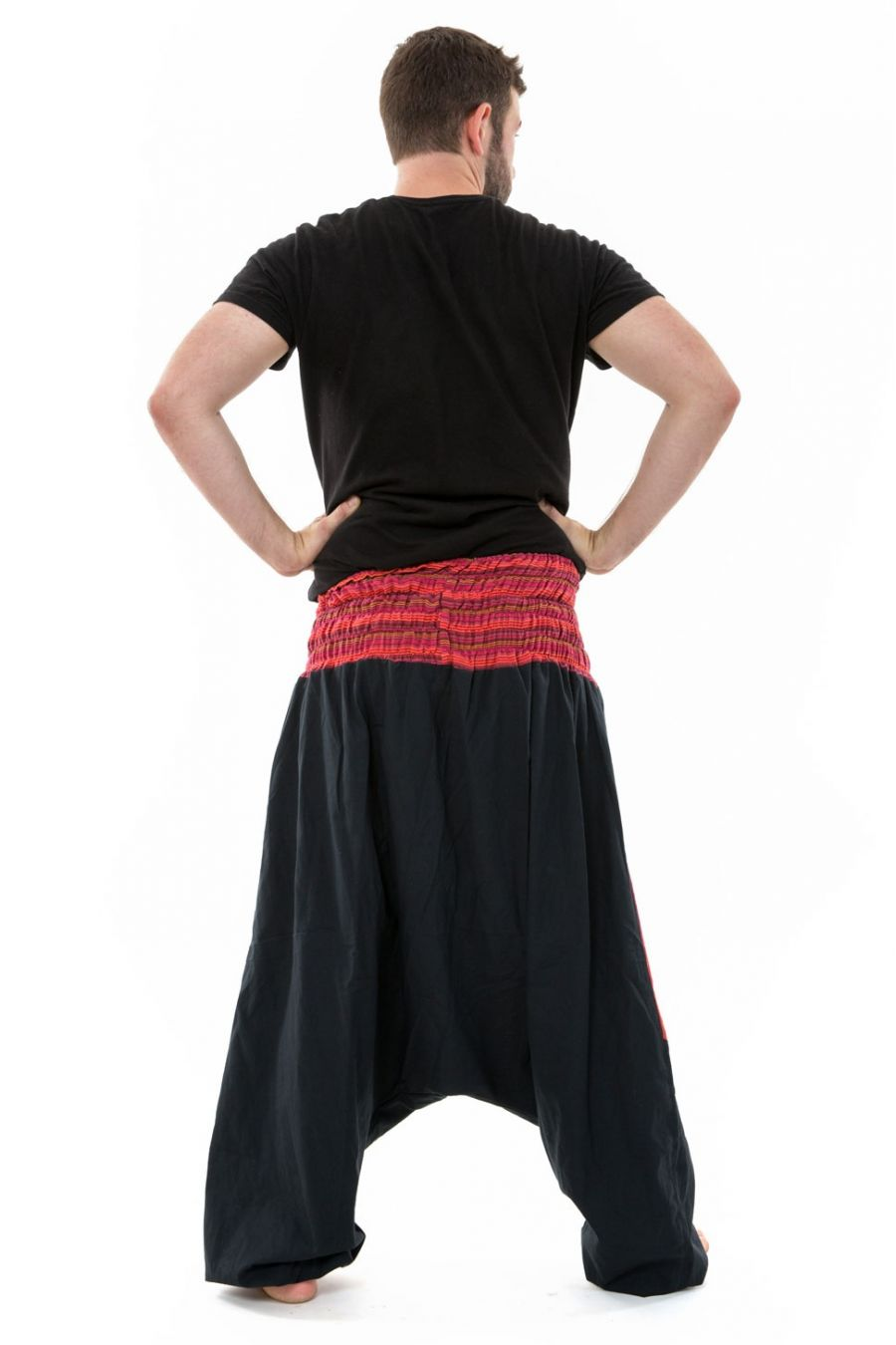 Plus Size Harem Pants. Stretchy Waist fits roughly between 32