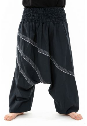 Harem pants plus size men women large elasticized belt Andaman