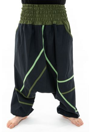 Harem pants plus size men women black green winter