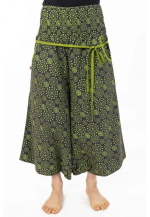 Short Harem pants women elastic stars designs