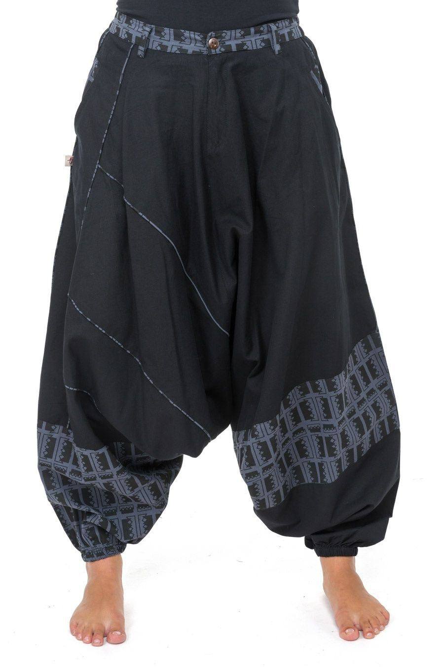 Harem Pants Men Women Urban Boho Black Grey Blue Naheda