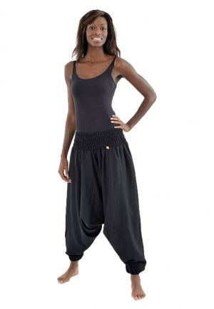 Harem Pants Elasticized plain genie indian