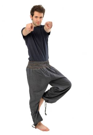 Harem pants elastic heather dark blue-grey Khrisna