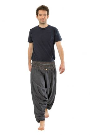 Harem Pants elastic Shanti heather dark blue-grey