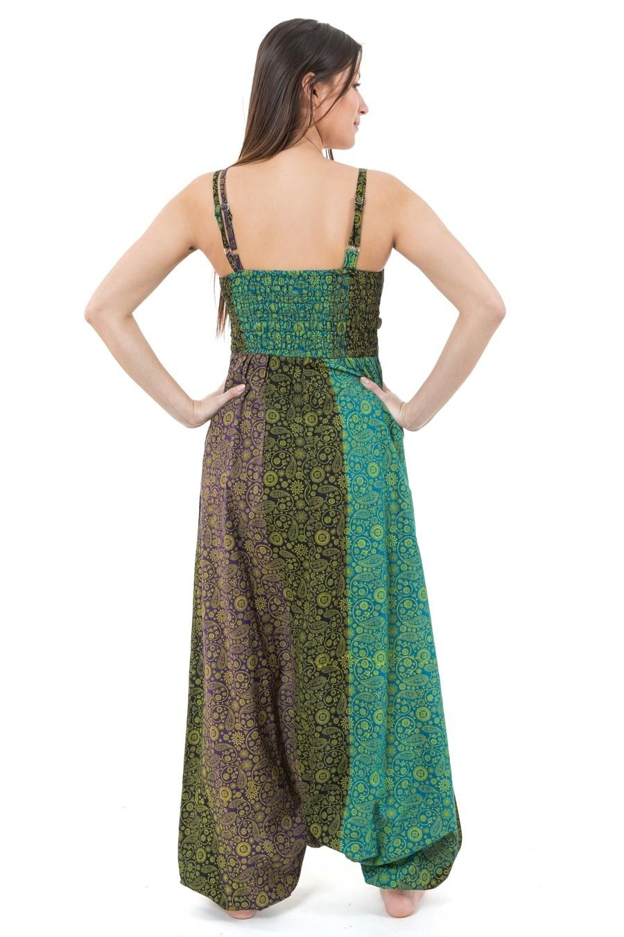 Harem Jumpsuit Indian Printed Boho Chic Cashmere And
