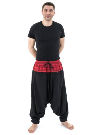 Harem Pants Nepal plus size black red Amplitude