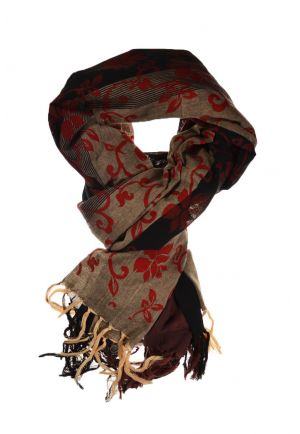 Royal Cheche black and grey red floral print