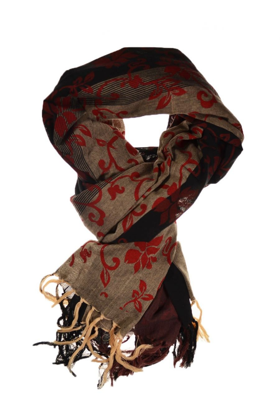 76c5e1008581 Royal Cheche black and grey red floral print FZCH103