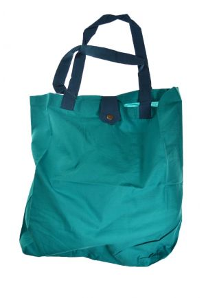 Bag tote bag printed cotton turquoise funny pelion