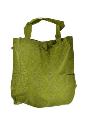 Bag tote bag printed cotton bengali fire army green
