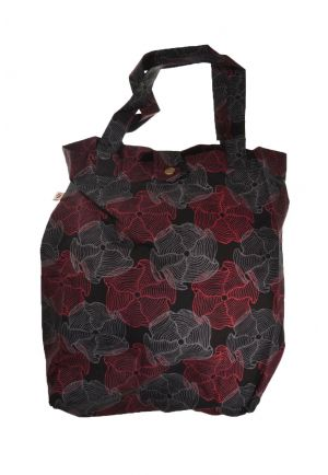 ag tote bag printed cotton flower psyche black red