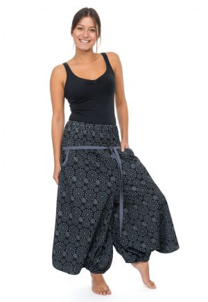 Harem skirt Capri pants women elasticized belt Kolami