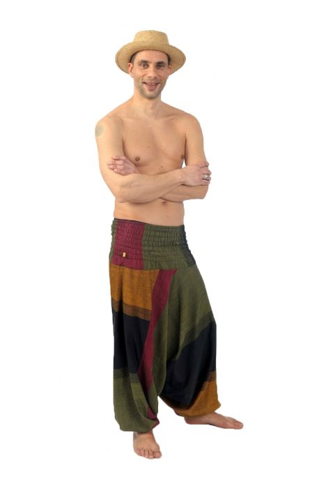 Harem pants elasticized men women reveler Mahabharat