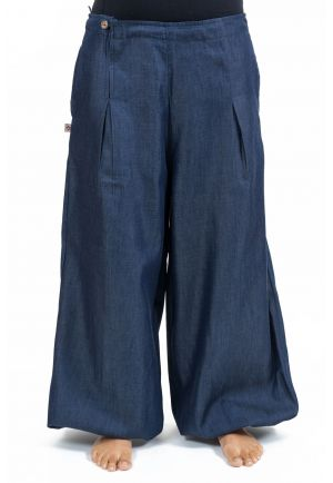 Women's ethnic pants puffy soft denim