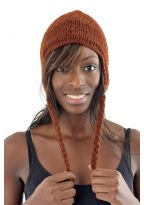 Light brown hat pure wool and soft fleece from Nepal